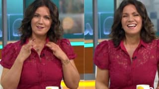 Good Morning Britain: Susanna Reid Hits Back At Cleavage-Shaming Comments By Pulling Open Her Top