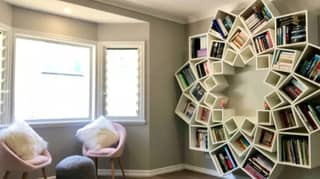 Woman Creates Incredible DIY Bookcase Using Nothing But Boxes