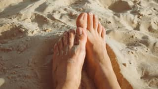 Woman Shares Genius Hack To Get Sand Off Your Feet in Seconds