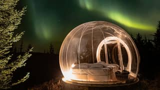 You Can Now Sleep Under The Stars In A Bubble Pod In Snowy Iceland