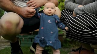 Parents Amazed As Eight Week Old Baby Learns To Stand