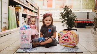 Mum Throws Daughter An Aldi-Themed Party Including Adorable Uniform And Trolley Token Cookies