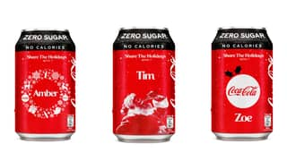 Coca-Cola Is Giving Away Free Personalised Cans Of Coke For Christmas