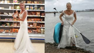 This Bride Is Wearing Her Wedding Dress To Do Her Daily Chores Because She Wants To 'Get Her Money's Worth'