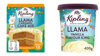 ASDA Is Selling A Mr Kipling Llama Cake Mix And Icing