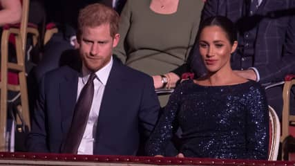 Heartbreaking Pictures Show Harry Gripping Meghan's Hand After Confessing She Was Suicidal