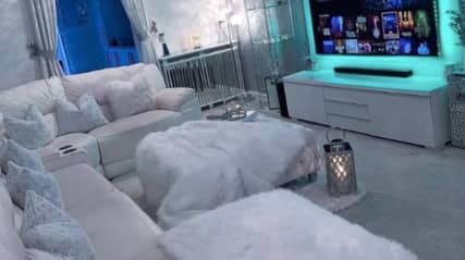 Man Sparks Debate Over Grey Velvet Living Room That's 'His Idea Of Hell'