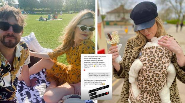 Laura Whitmore Claps Back After Troll Criticised Her For 'Putting A Blanket On Her Baby'
