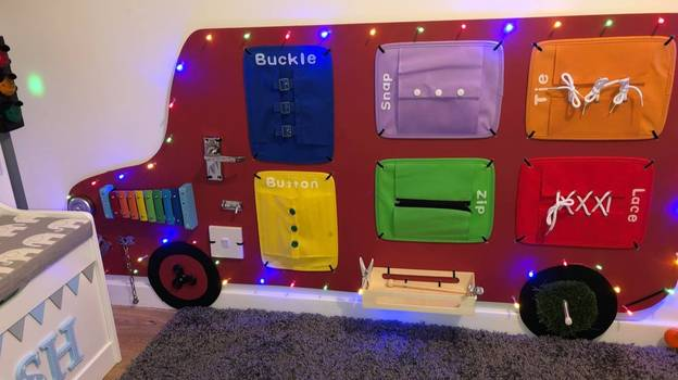 Creative Mum Makes Amazing £20 Play Board to Keep Son Occupied