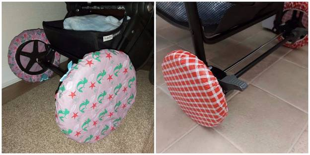 Mum Shares Shower Cap Solution To Stop Pram Dirtying Her Carpets