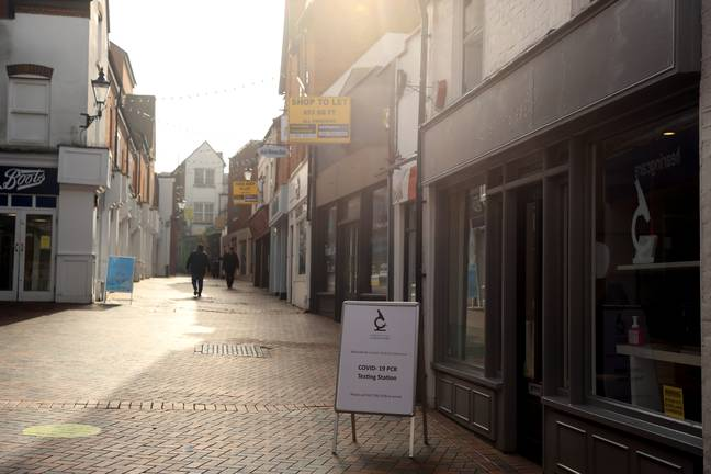 An empty high street in Guildford, Surrey (Credit: PA)