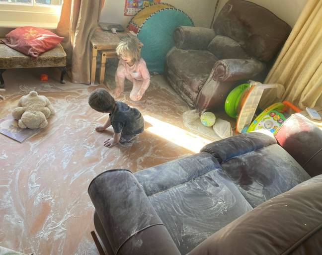 The naughty pair had caused havoc with talc (Credit: Kennedy News Media)
