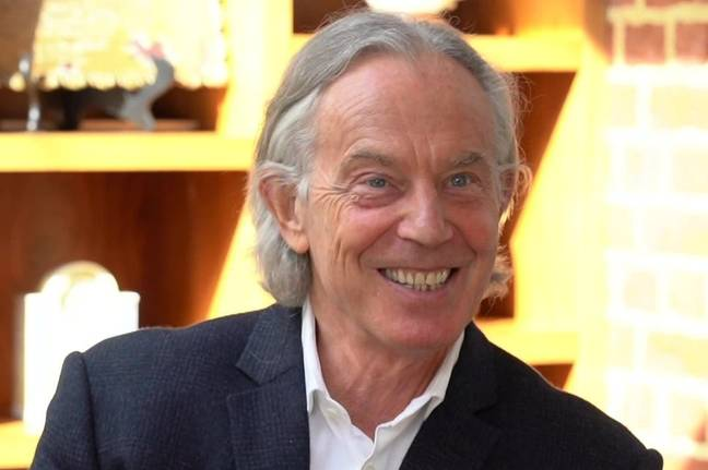 Tony Blair's hair confused with its longer tresses (Credit: ITV News)