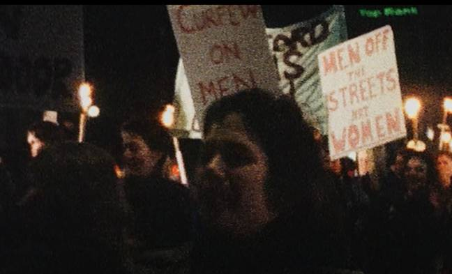 Reclaim the Night was a protest organised in Leeds at the height of the Yorkshire Ripper killings (Credit: Netflix)