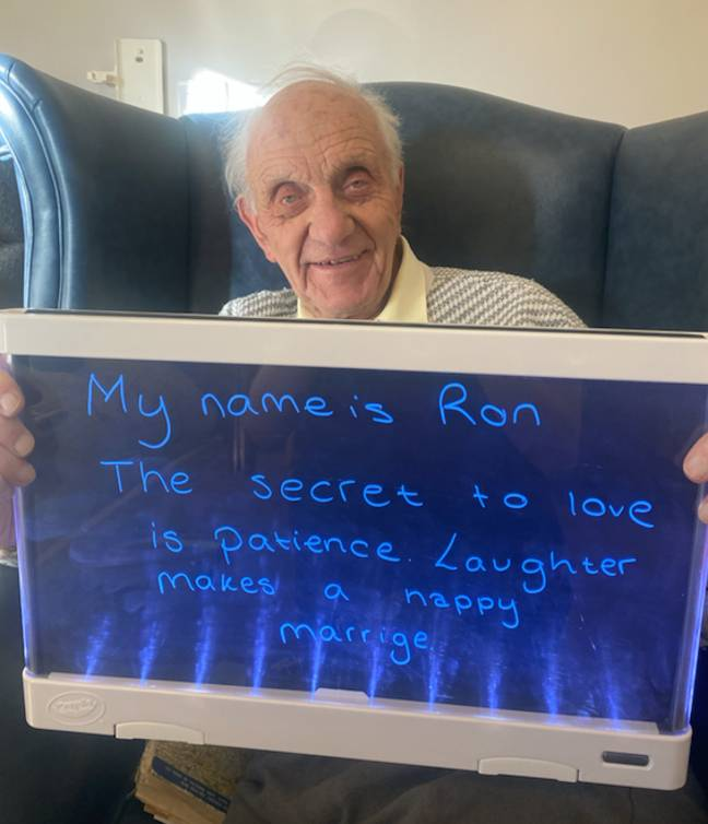 Ron says laughter is key (Credit: Colne View care home)