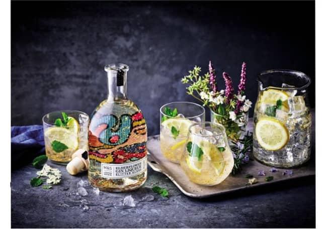 The elderflower gin has gold piece inside it (Credit: M&S)
