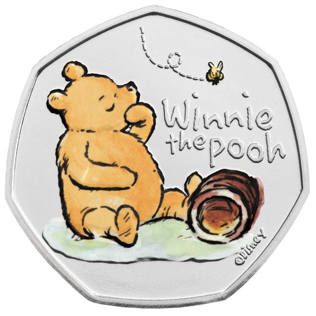 The coin features original Winnie-The-Pooh illustrations (Credit: Royal Mint)