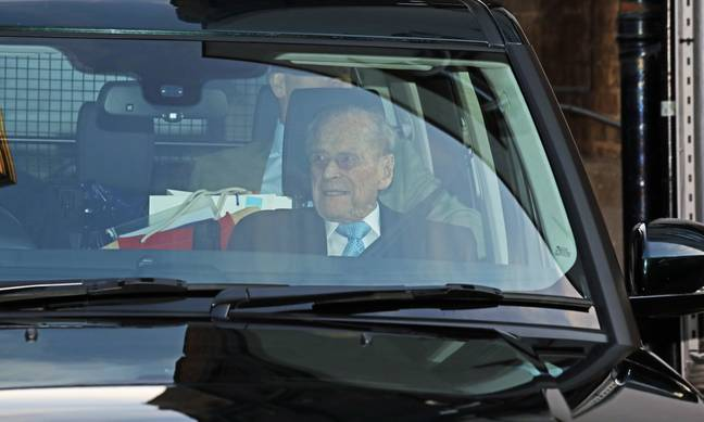 Prince Philip leaving hospital after a brief illness in December 2019 (Credit: PA)