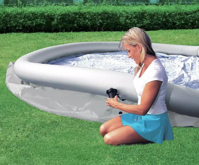 It comes complete with pump and cover (Credit: Argos)