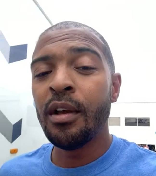Noel Clarke as seen in the introduction video on Cameo (Credit: Noel Clarke/ Cameo)