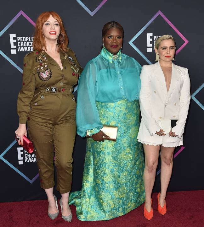 The comedy drama stars Retta, Christina Hendricks and Mae Whitman (Credit: PA)