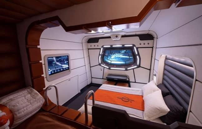 The space-tastic Galactic Starcruiser hotel at Disney World Florida (Credit: Disney)
