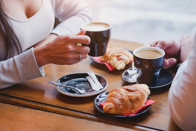 The woman said she was on a coffee date when a stranger handed her a note whilst her date was in the bathroom (Credit: Shutterstock)