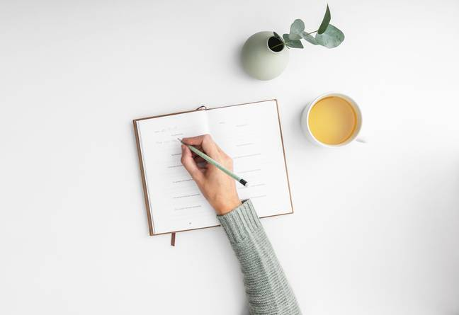 Keeping a diary is one way of keeping yourself busy (Credit: Unsplash)