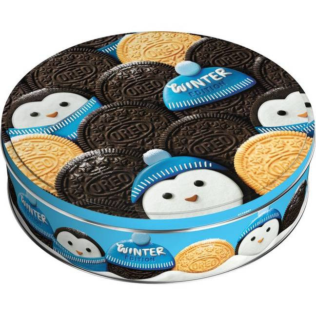 The Oreo Selection Box comes in a cute penguin-themed tin you can keep all year round (Credit: Cadbury)