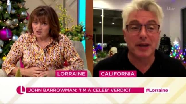 John Barrowman's accent changed on Lorraine (Credit: ITV)