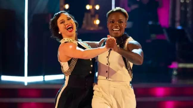 Nicola Adams performed with Katya Jones while on Strictly (Credit: BBC)