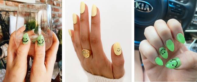 These nails would not give you a smiley face (Credit: Twitter/@Ms_RandiLeigh)