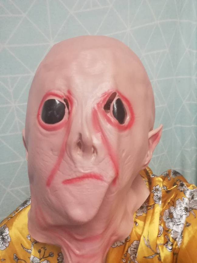 This is not the Voldermort mask Rosi thought she was getting (Credit: Caters)