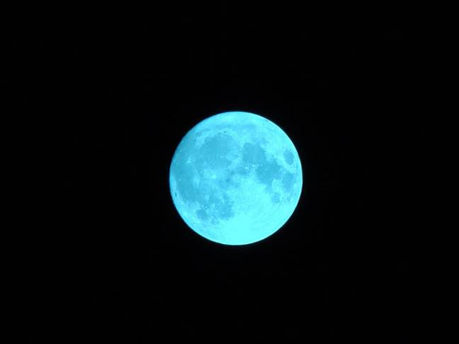 A blue moon occurs when we see two full moons in one calendar month (Credit: publicdomainpictures)