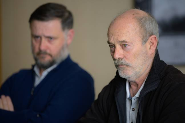 Keith Allen plays John Cooper, the Welsh serial killer who appeared on an episode of the TV game show Bullseye in 1989 (Credit: ITV)