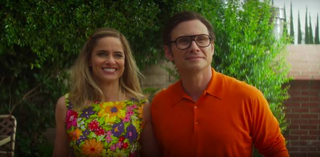 Season two- starring Amanda Peet and Christian Slater - is based on the real-life case of Betty and Dan Broderick (Credit: Netflix)