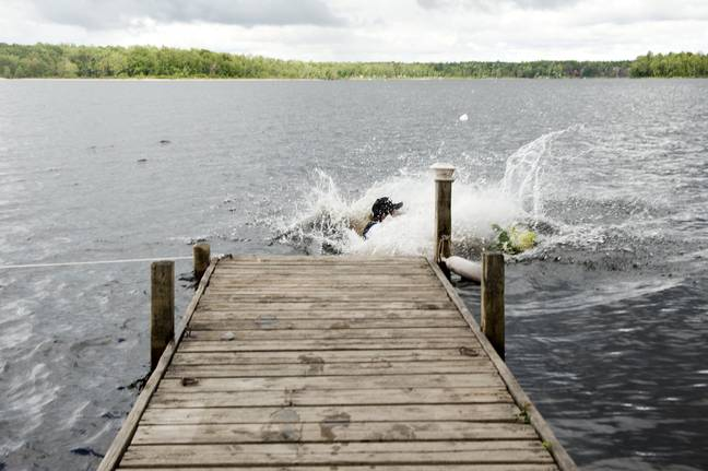 And...splash (Credit: SWNS)
