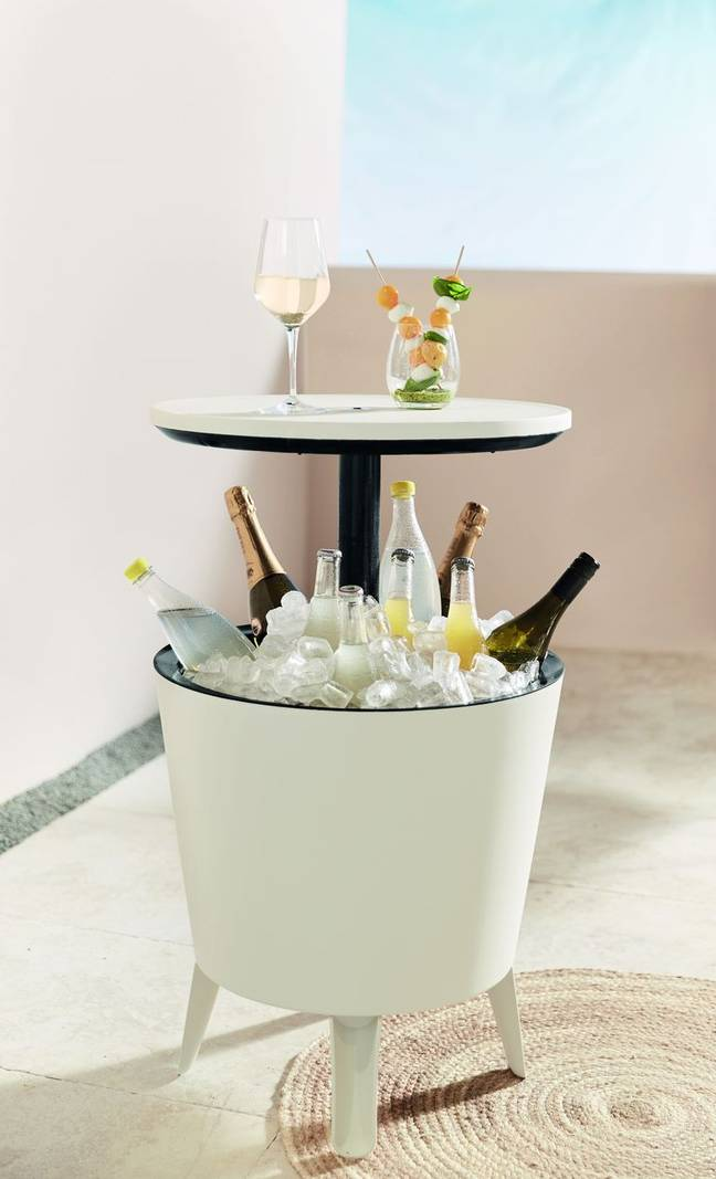Lidl's new garden table with built-in ice bucket (Credit: Lidl)