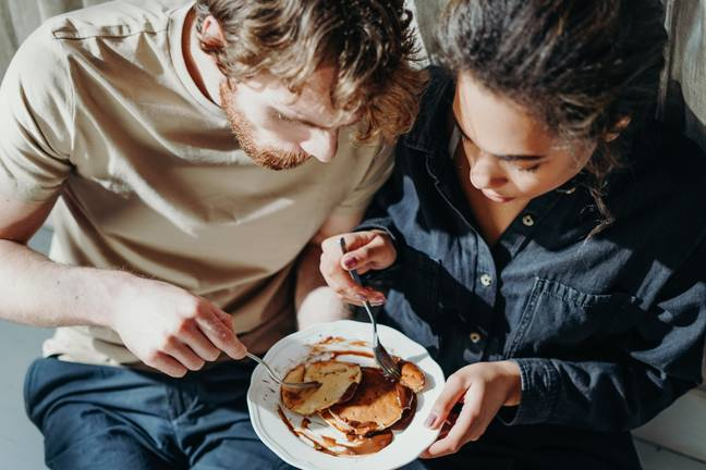 Tracy believes food tastes better when couples eat together (Credit: Pexels)