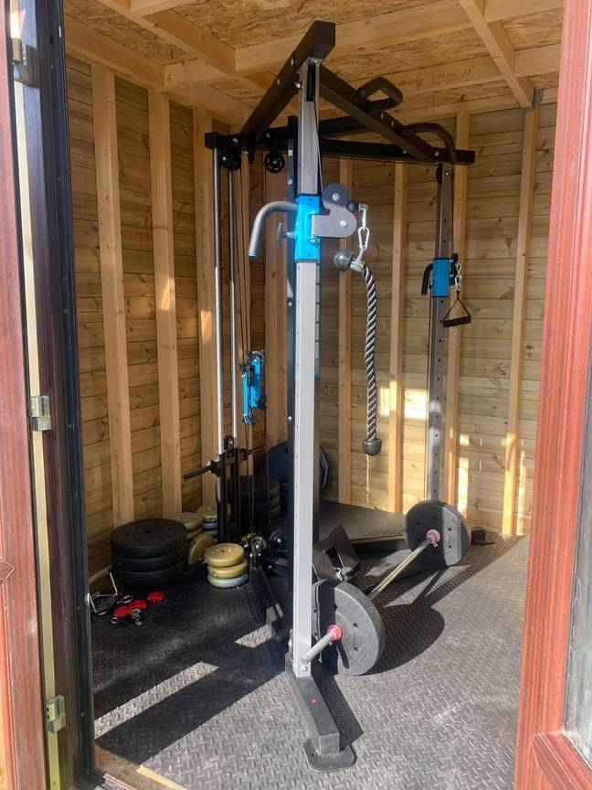 The couple began the project when gyms shut down during lockdown (Credit: Latestdeals.co.uk)