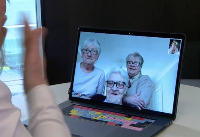The women talked through their self-isolation plans over webcam (Credit: BBC Breakfast)