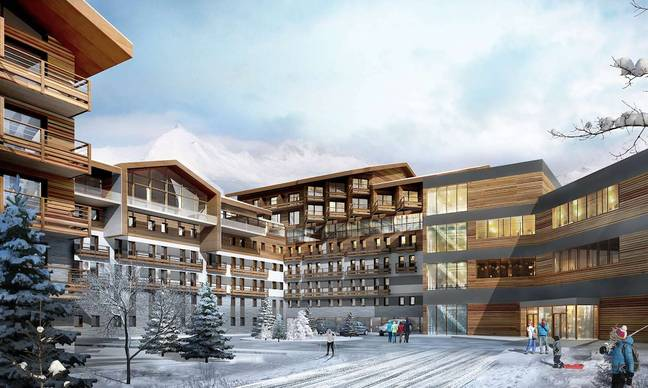 It also offers breathtaking panoramic views across the snow-covered slopes (Credit: Club Med)