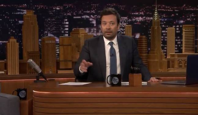 Maisie fled the stage and Jimmy looked worried. Credit: The Tonight Show Starring Jimmy Fallon/NBC