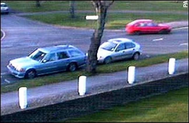 Levi was believed to be driving the red car (Credit: Crime+Investigation)