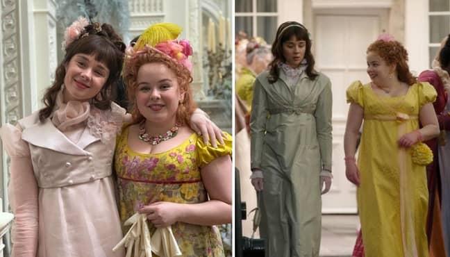 Peneloope Featherington and Eloise Bridgerton in season 1 (Credit: Instagram/bridgertonnetflix)