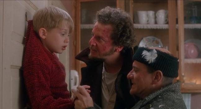 Macaulay Culkin, Joe Pesci and Daniel Stern in Home Alone (Credit: 20th Century Fox)