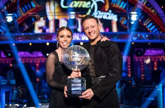 Strictly 2018 winners Stacey Dooley and Kevin Clifton. Credit: BBC/Strictly