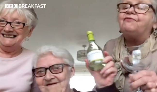 Naturally, they've stocked up on wine too (Credit: BBC Breakfast)