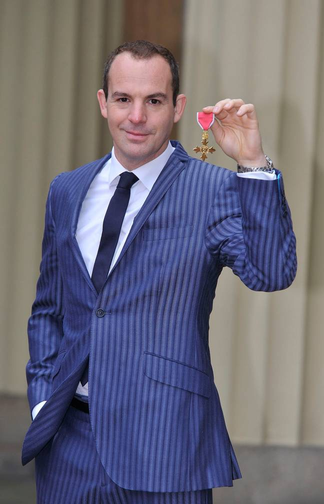 Martin Lewis was awarded his OBE in 2014 (Credit: PA)
