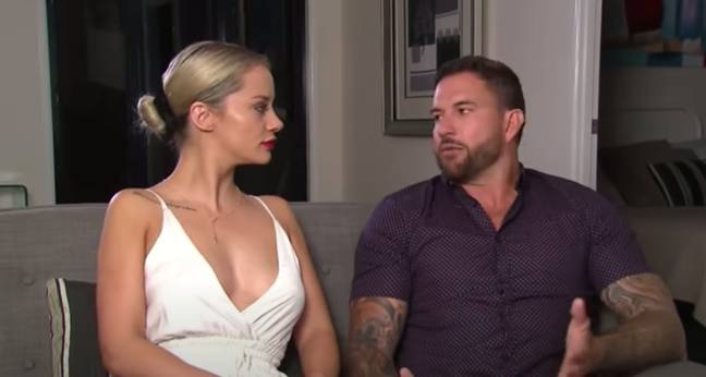 Not long after the interview, Dan revealed the pair had split (Credit: Channel Nine)